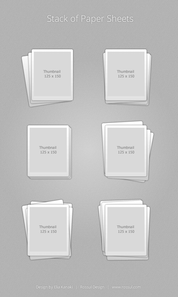 Stack of Paper Sheets - Free Vector Icons Set