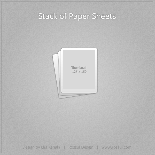 Stack of Paper Sheets Icon